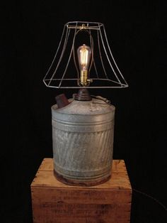 Table Lamp Rustic Kerosene Can by BenclifDesigns on Etsy, $169.00