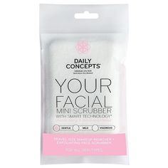One New Factory Sealed Deluxe Travel Size Daily Concepts Your Facial Mini Scrubber with Smart Technology ~ Gentle. Equip 'em with this dual-texture facial scrubbing tool so you can effectively remove dirt, oil, and impurities from your pores. Travel Size Makeup, Exfoliate Face, Water Conservation, Clean Face, Feet Care, Smart Technologies, Makeup Remover, Travel Size Products