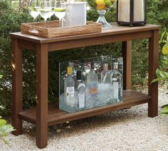 Outdoor Buffet Table Using a Side Table Outdoor side table Buffet