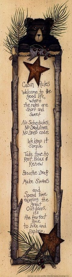 Cabin Rules (Linda Spivey)