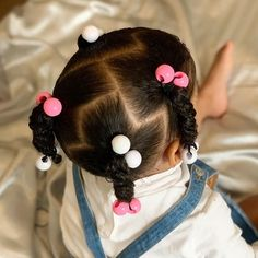 Little Girls Ponytail Hairstyles, Black Baby Girl Hairstyles, Little Girl Ponytails, Little Girls Natural Hairstyles, Toddler Braided Hairstyles, Kids Curly Hairstyles, Girl Hair Dos, Toddler Hair, Hair Styles