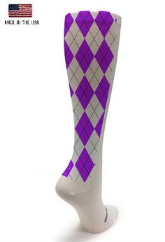 New White collection, purple argyle!  #crazycompression #crazyclan