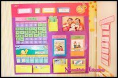 Calendario Educativo - Imprimible Gratis - Creciendo con Montessori Spanish Classroom, School Classroom, Classroom Decor, Calendar Board, Calendar Time, Montessori Trays, Montessori Activities, Classroom Calendar, School Calendar
