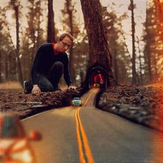 """making roads"".. the coolest photo I've ever found. I don't know it's real or was edited. [via @Mexicanitica]"