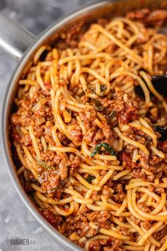 Looking for an easy pasta dish recipe? This simple and quick spaghetti Bolognese is your answer. The 30 minutes Bolognese sauce is delicious, rich and Easy Spaghetti Bolognese, Easy Sauce Recipe, Bolognese Recipe, Bolognese Sauce, Lemon Garlic Pasta, Easy Pasta Dishes, Easy Baked Chicken, Quick Easy Meals, Pasta Recipes