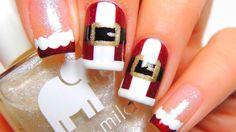 ❄ CHRISTMAS NAIL ART 2017 ❄ CHRISTMAS NAIL TUTORIAL COMPILATION ❄ PART 1 ❄ Simple Nail Art Designs, Easy Nail Art, Nail Designs, Nail Tutorials, Design Tutorials, Christmas Nail Art, Beautiful Nail Art, Cute Nails, Nail Polish