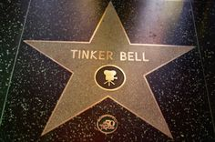 See they are real! Tink has a star on the walk of fame!