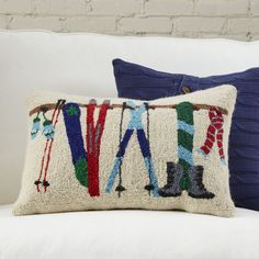 Birch Lane Ready for Winter Hooked Pillow