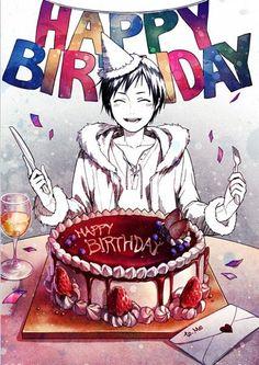 Happy B-Day izaya (his birthdays May in hope you have an amazing birthday Birthday Anime, Happy Birthday Art, Friend Birthday, Birthday Wishes, Birthday Cards, Durarara, Izaya Orihara, Shizaya, Tv Anime