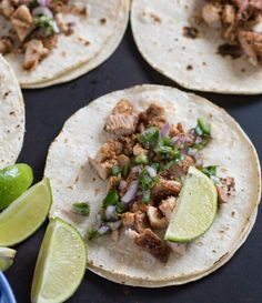 Simple and quick chicken tacos made with chicken thighs, a simple onion and cilantro topping, and served on a corn tortilla. These are our all-time favorite taco recipe that taste like they just came off a food truck. Taco Tuesday holds a strong place in my heart and in the hearts of my kids, but