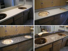 Paint your counter tops for a thrifty room face lift! Definitely have to give this a try in the bathroom!