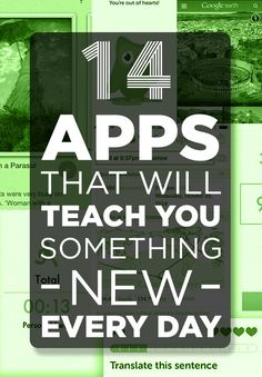 14 Apps That Will Teach You Something New Every Day is part of New things to learn - Have the whole universe at your fingertips Learning Websites, Educational Websites, Educational Toys, Learning Logo, Mobile Learning, Educational Leadership, Learning Quotes, Educational Technology, Skills To Learn