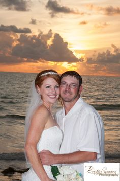 sunset beach wedding - Leiker, photo by: Beautiful Wedding Photography