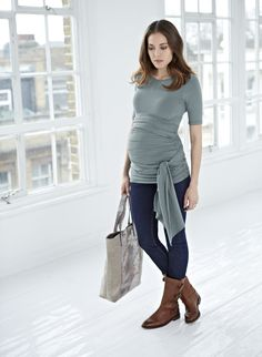 Isabella Oliver | The Ruched Wrap Maternity T Shirt
