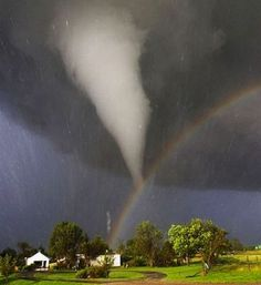Tornado and a rainbow.......this is NOT photoshopped!