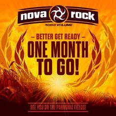 Only one month to go!   NOVA ROCK Festival 2015   #NR15  12.-14.06.15   Pannonia Fields, Nickelsdorf