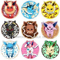 (◡‿◡✿) - Yum! Donut Eeveelutions!