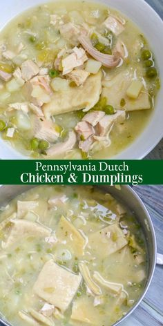 This delicious throwback might have you reconsidering your chicken pot pie Pennsylvania Dutch Chicken Dumplings is the original and the other s just a cheap knock off Serve a Southern-style dinner your family will love with this tasty treat via Amish Recipes, Greek Recipes, Soup Recipes, Chicken Recipes, Cooking Recipes, Pa Dutch Chicken Pot Pie Recipe, Netherlands Food, Amsterdam Netherlands, Pennsylvania Dutch Recipes