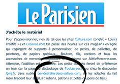 """Le Parisien... """"Vie numérique : ma petite fabrique à cadeaux - A Noël, grâce aux guides et aux matériaux disponibles sur le Net, faites plaisir en offrant des créations maison.""""  (Article publié sur le site internet, 3 décembre 2014)"""