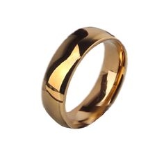 6mm Fashion Silver gold Never Fade Stainless Steel Titanium Wedding Ring For Women and Men Jewelry LR418