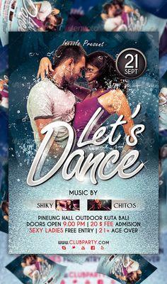 Lets Dance Flyer Template