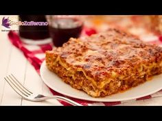 Lasagna Bolognese. The most favourite pasta dish in Italy. Italians exactyly know how to eat! Buon appetito!