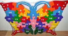 Ecofriendlybee spececialized in eco friendly and hand made environment friendly prducts made with wood ,straw ,leave and jute Letters For Kids, 26 Letters, Wooden Jigsaw, Learning Tools, Jigsaw Puzzles, Numbers, Butterfly, Colours, Patterns