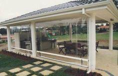 Image result for cafe blinds outdoor kitchen pavilion