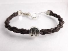 Personalized Faux Leather Bracelet for Men & Women by DaisyBell Beads on Etsy.com