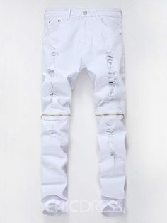 Mid Waist Zipper Plain Slim Fit Mens Fashion Jeans We Offer Top Good Quality Cheap Clothes For Women And Men Clothing Wholesaler, Get Affordable Clothing At Worldwide. Denim Joggers, Trouser Jeans, Ripped Denim, Denim Jeans, Men's Club Wear, Skinny Guys, Skinny Jeans, Mode Jeans, Biker Jeans