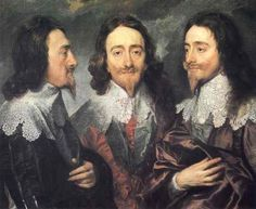 """Anthony van Dyck - """"Charles I in Three Positions"""", 1635-1636"""