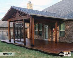 This amazing pergola patio is undeniably a notable design alternative. Patio Roof, Pergola Patio, Gazebo, Pergola Kits, Cheap Pergola, Pergola Ideas, Landscaping Ideas, Backyard Patio Designs, Pergola Designs