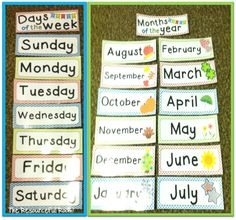 Days of the Week and Months of the year Freebie!