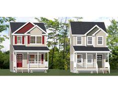 16x16 Tiny Houses -- PDF Floor Plans -- 466 Sq Ft & 463 Sq Ft