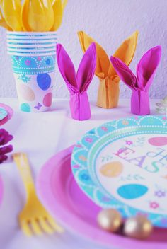 Easter Party Party Tableware, Decorations.