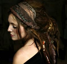 Lovely dreads with ties & a head scarf
