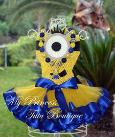 Ready To Ship Minion Tutu Dress Size 12/2T by MyPrincessTutuBoutiq
