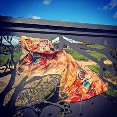Handpainted silk scarf  shop www Etsy.com
