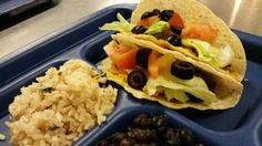 Tacos lunch from Poudre School District Child Nutrition Department