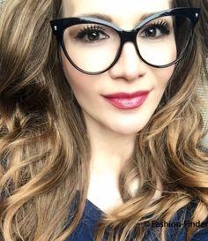 a2cb4fab83 Large Cat Eye Glossy Black Pin Up Mohotani Fashion Girl Eyeglasses Frames  018 IT