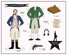 Mix and match your favorite styles from the hit Broadway musical Hamilton! Print out, cut your pieces and dress up Alexander Hamilton, Aaron Burr or Eliza Schuyler. This is a great project for anyone who can't stop singing Hamilton songs. Hamilton Broadway, Hamilton Musical, Paper Doll Craft, Doll Crafts, Paper Crafts, Alexander Hamilton, Vivid Seats, Hamilton Costume, Hamilton Star