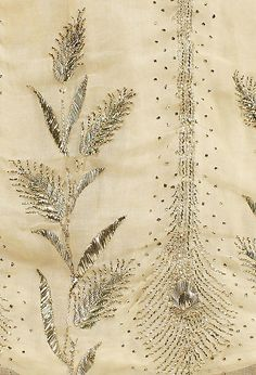 Evening dress (image 5 - detail)   French   1805-10   cotton, metallic thread   Metropolitan Museum of Art   Accession Number: C.I.X.646