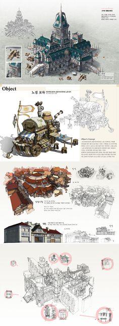 CG游戏资料场景设定原画素材教程 韩国游戏学校场景设计-淘宝网