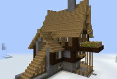 Medieval Fantasy Large House - GrabCraft - Your number one source for MineCraft buildings, blueprints, tips, ideas, floorplans!