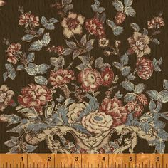 Flower Urns on Brown Eagle Medallion circa 1825 by NauvooQuiltCo