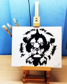 Lion #oil #painting #draw #drawing #lion #ilustration #art #animal