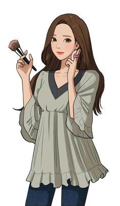 Her Beauty / Secret of angel Manga Characters, Female Characters, Fashion Beauty, Girl Fashion, Fashion Outfits, Webtoon Comics, Character Design Animation, Beautiful Anime Girl, Manhwa Manga