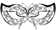 máscaras de carnaval para imprimir de borboleta