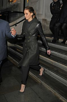 7f2c657784cb Jennifer Lawrence leaving BAFTA pre-party 08.02.2013