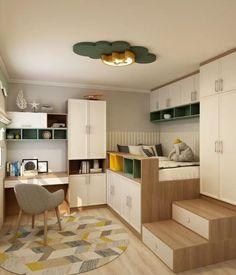 Small Room Design Bedroom, Small House Interior Design, Small Apartment Design, Bedroom Furniture Design, Room Ideas Bedroom, Home Room Design, Home Office Design, Room Decor, Diy Furniture